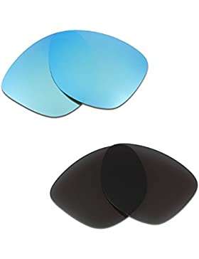 Hkuco Plus Mens Replacement Lenses For Oakley Frogskins Sunglasses Blue/Black Polarized