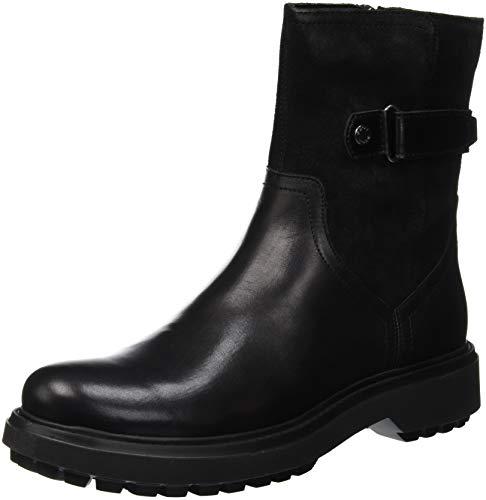 Geox Damen D ASHEELY K Biker Boots Schwarz (Black C9999) 37 EU