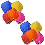 LIFE'S BETTER PowerCube Hot Air Balloon Multicolor Paper Sky Lantern (81 x 30 cm) - Pack of 10