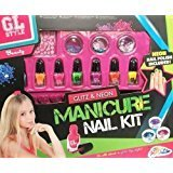 Glitz and Neon Manicure Nail Kit - GL Style Beauty Girl Fun by Carousel