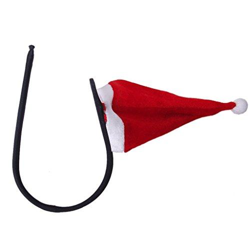 Preisvergleich Produktbild SODIAL(R)Maenner sexy Weihnachtsmuetze Ctring Tanga unsichtbare Unterwaesche Pouch Nette rote Hoeschen