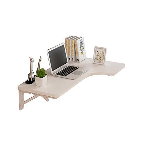 Faltbarer Wandtisch ZCJB Folding Multi-Use Wand-Drop-Blatt Tisch Ecke Computer Schreibtisch L-förmigen Tisch für kleine Räume (Farbe : Weiß, größe : 80x60x40cm) - L-förmigen Schreibtisch Möbel