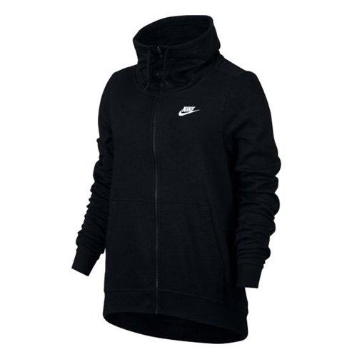 Nike Damen Funnel Full Zip Club Hoodie, Black/White, XL Preisvergleich
