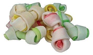 2Paquetes De Mini hueso nudo Denta Fun Dog Snack, 240g para perro