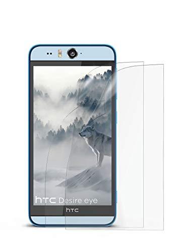 2X HTC Desire Eye | Schutzfolie Matt Bildschirm Schutz [Anti-Reflex] Screen Protector Fingerprint Handy-Folie Matte Bildschirmschutz-Folie für HTC Desire Eye Bildschirmfolie