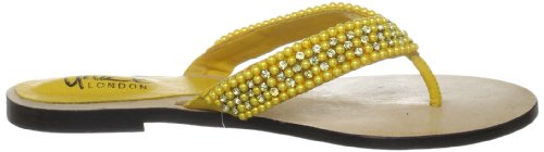 Unze Evening Slippers, Sandali donna Giallo (Gelb (L18333W))