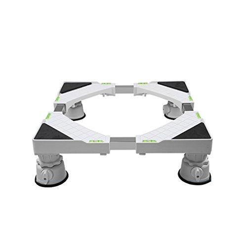 Qiangzi Einstellbare Basisständer Edelstahl Multifunktionale Heavy-Duty Appliance Roller Base Weiß Wäschetrockner Freezers 66 * 66 Cm Für Badezimmer Küche (Küche Wagen Roller)