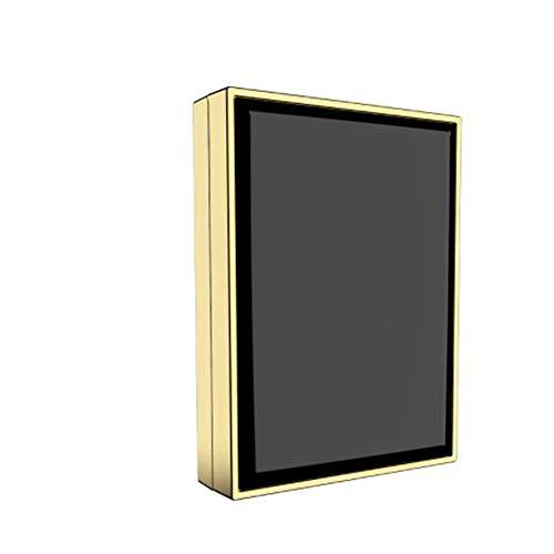 LED-Schminkspiegel USB-Schminkspiegel Tragbarer Mini-Klappspiegel Beleuchteter doppelseitiger kleiner Glasspiegel-A1