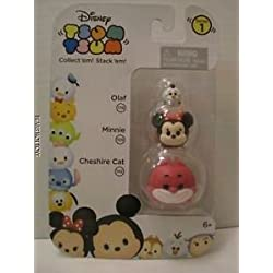 Disney Tsum Tsum mini vinyl cheshire cat, Minnie, Olaf series 1