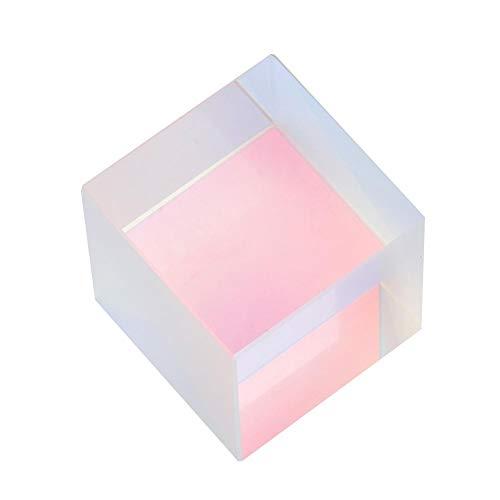 Optisches Glasprisma, 1 STÜCK Bunte Kombinierer Splitter Kreuz Dichroitischen Licht Kleinen Würfel Optisches Glasprisma RGB Prisma (2 * 2 * 2 cm)