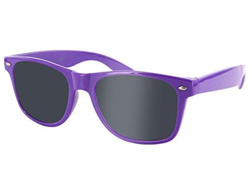Wayfarer Atzen Sonnenbrille Nerd Brille Hornbrille alle Farben, wählen:816F lila