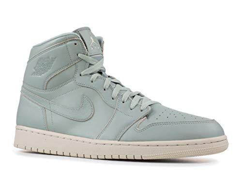 Nike Air Jordan 1 Retro High Prem - mica green/mica green-desert s - Basketball-Schuhe-Herren, Größe:10