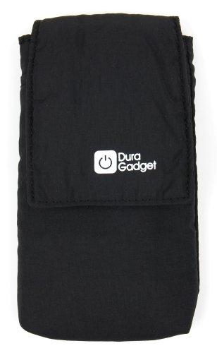 DURAGADGET Polyester-Hülle für die Easypix Aquapix W1400 Active Unterwasserkamera (Groß - Schwarz)