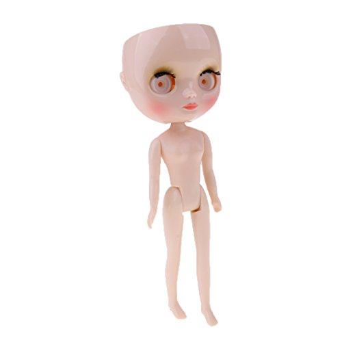 Fenteer Mini Mädchen Puppe Kopf Faceplate (Make-up-Look), Augen, Körper Für 20cm Middle Blythe Neo Puppe DIY Costom Zubehör (Blythe-puppe, Kopf)