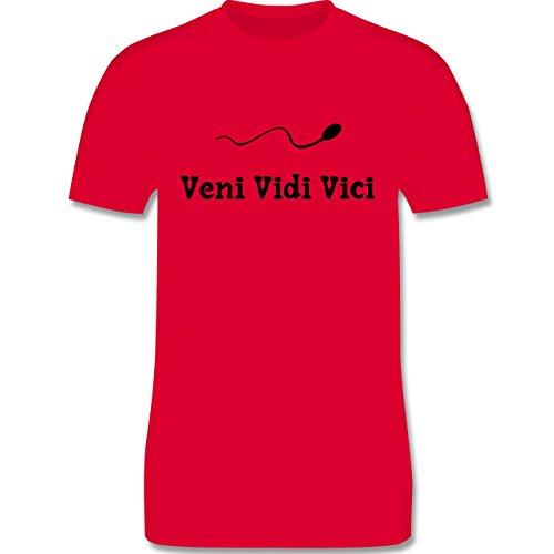 Symbole - Veni Vidi Vici - Herren Premium T-Shirt Rot