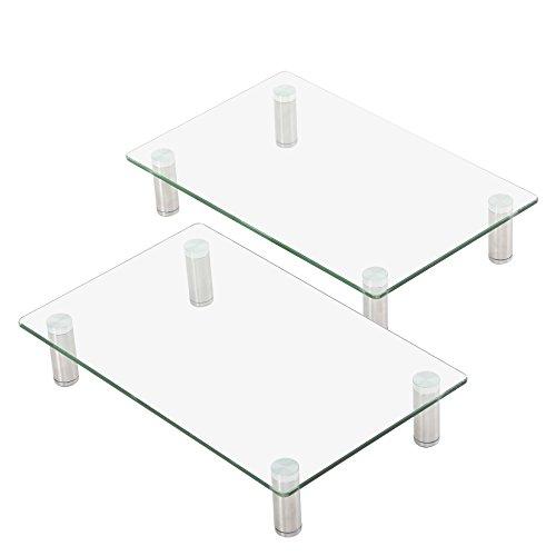 FITUEYES Cristal Dual Soportes Monitor Portátil Elevador