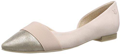 Caprice 22110, Damen Geschlossene Ballerinas, Rosa/Silber, 38 EU