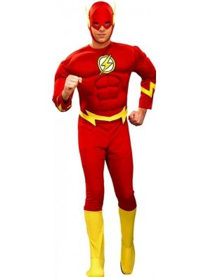 Erwachsene Muskel Für Flash Kostüm Brust - Generique - Flash-Kostüm für Herren L