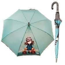 Gorjuss - Parapluie Long Automatique I Found My Family in a Book (Santoro 76-0004-10FB)