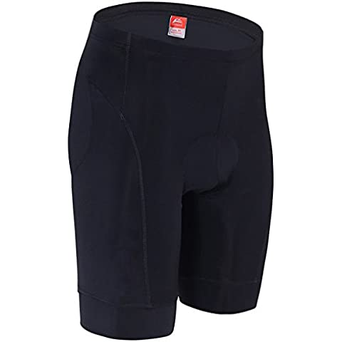ALLY 3D Profesional Hombres Moldeado Acolchado Anti-Bac Ciclismo Culottes con Aire de Alta Permeabilidad - M/L/XL/XXL/XXXL opcional (Negro/Negro, XXXL