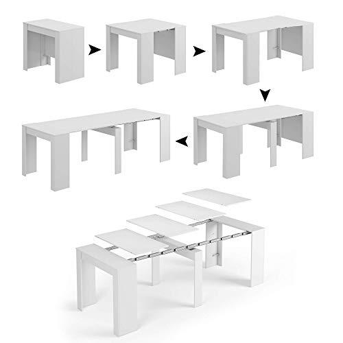 Esidra tavolo allungabile, bianco lucido, x-large