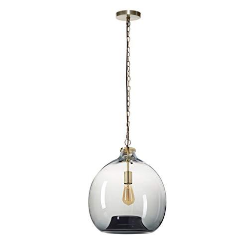 WSXXN Anhänger Beleuchtung mundgeblasene kreative und transparente Glas Lampe Körper Farbverlauf Drop Deckenleuchten, zeitgenössischen Stil Hängeleuchte (Farbe : A-Large) -