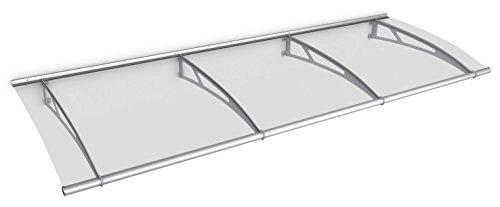 Schulte Vordach 270x95 cm Haustür Überdachung Edelstahl rostfrei Acrylglas durchgehend und...