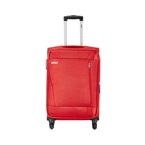 Safari Polyester 67 cms Red Softsided Check-in Luggage (SAVAGE674WRED)