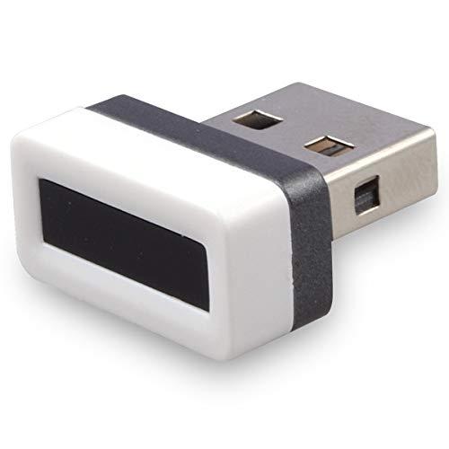 Noblik USB Fingerabdruck Leser Laptop Fingerabdruck Identifikation Windows Hallo Presse Multi Biometrische Sicherheits Schlüssel Verschlüsselung Für Win 7/8/10 (Wei?) - Biometrischer Laptop-sicherheit