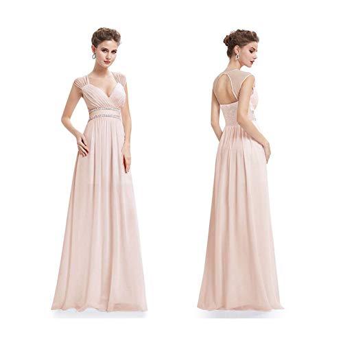 MOOPYS& Cheap Long Homecoming Dresses Formal Evening Bridesmaid Wedding Dresses V Neck Blush 4 Jovani Homecoming