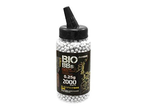 2.000 S&T Softair / Airsoft BIO BBs 6mm 0,25g hell - im Feeder (Airsoft Mine)