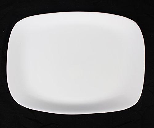 BORMIOLI ROCCO Unique Blanc brillant 'Parma' à carreaux Assiette de service rectangulaire 33 cm x 24 cm