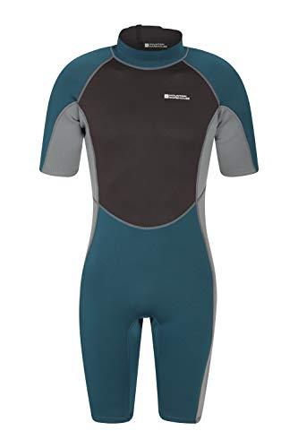 Jungen Kleinkinder L/s Shirt (Mountain Warehouse Shorty Herren-Tauchanzug in voller Länge - bequemer, einteiliger Neopren-Surfanzug, leicht schließender Reißverschluss - für Sommerferien, Tauchen Petrolblau Medium/Large)