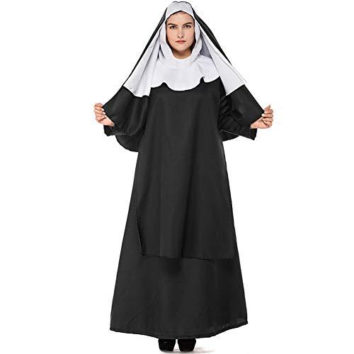 LOLANTA Damen Nonne Kostüm Damen Halloween Nonne Kostüm Sankt Tage Kostüm für Erwachsene (5XL(DE - Nonne Kostüm Für Erwachsene