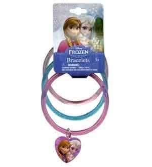 Disney Frozen Bangles Charm 3 Pcs [8 Retail Unit(s) Pack] - FZGBS by UP