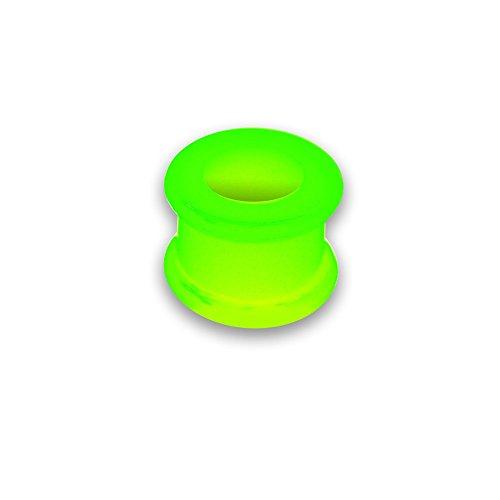 March 26 millimetri tunnel carne tunnel tubo al neon orecchio silicone doppio svasata silicone, formato: 18 mm, colore: verde neon