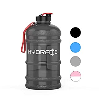 HYDRATE 2.2 Litre Water Bottle - Now With Easy Drink Cap - Durable & Extra Strong - BPA Free - Ideal for: Gym, Dieting, Bodybuilding, Outdoor Sports, Hiking & Office 11