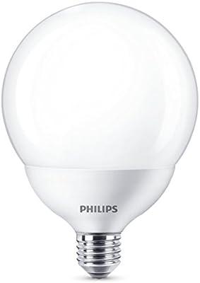 Philips 929001229801 - Bombilla LED globo, casquillo E27, consume 18 W (equivalente a 120 W), luz blanca cálida, no regulable