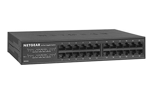 NETGEAR 24-Port Gigabit Ethernet Unmanaged Switch, Desktop/Rackmount (GS324)