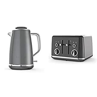 Breville Lustra Kettle & Toaster Set with 4 Slice Toaster & Electric Kettle (3kW Fast Boil), Storm Grey (B07G7H5MC9) | Amazon price tracker / tracking, Amazon price history charts, Amazon price watches, Amazon price drop alerts