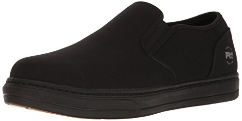 Mens Eh Slip (Timberland PRO Men's Disruptor Slip-On Alloy Safety Toe Eh Industrial and Construction Shoe, Black/Black Canvas, 12 W US)
