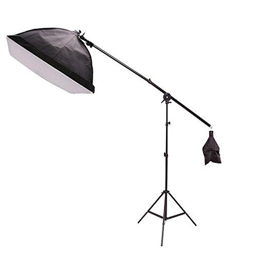 Etime Fotostudio 50x70 cm Softbox set ALU Studiolampe Stativ Studioleuchte 50x70cm +Galgenstativ + Fotolampe