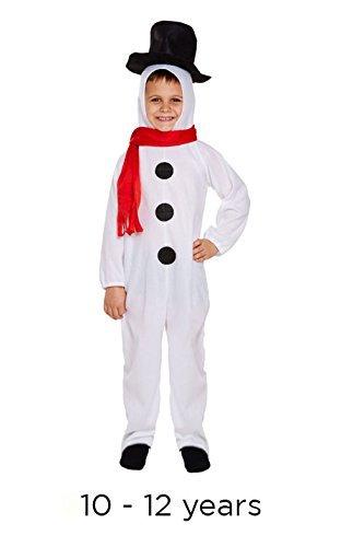 Kinder Festive Weihnachts Schneemann Kinder Kostüm Kostüm - (Kostüme Kind Schneemann)