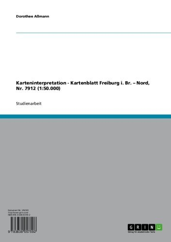 Karteninterpretation - Kartenblatt Freiburg i. Br. - Nord, Nr. 7912  (1:50.000)