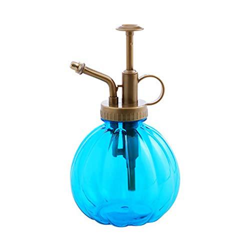 Hemore Mini-Sprühflasche, Vintage-Design, dekorativ, Glas, mit Pumpe Oben und Kleiner Gießkanne für Zimmerpflanzen, 1 Stück, Blau - Blau Dekorative Glas