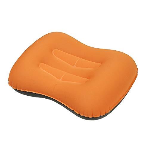 CXYGZLJ Aufblasbares Reise-Campingkissen - Reisekissen Compressible Compact Inflatable Komfortables Und Tragbares, Ergonomisches Kissen Für Nacken- Und Lordosenstütze (Farbe : Bright orange)