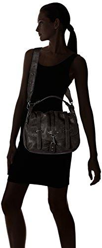 Tamaris - Bernadette Satchel Bag, Borse a secchiello Donna Nero (Black)