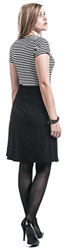 Pussy Deluxe Anchor Striped Kleid schwarz Schwarz