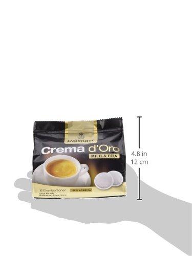 Dallmayr Crema d'oro mild und fein Pads, 5er Pack (5 x 16 Pads) - 5