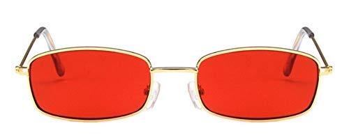WSKPE Sonnenbrille Sonnenbrille Frauen Männer Männer Getönte Gläser Damen Brillen Goldene Rahmen, Rote Linse